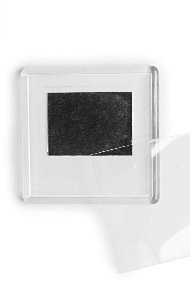 12. Magnet de frigider acrilic transparent - (6,5 x 6,5 cm)