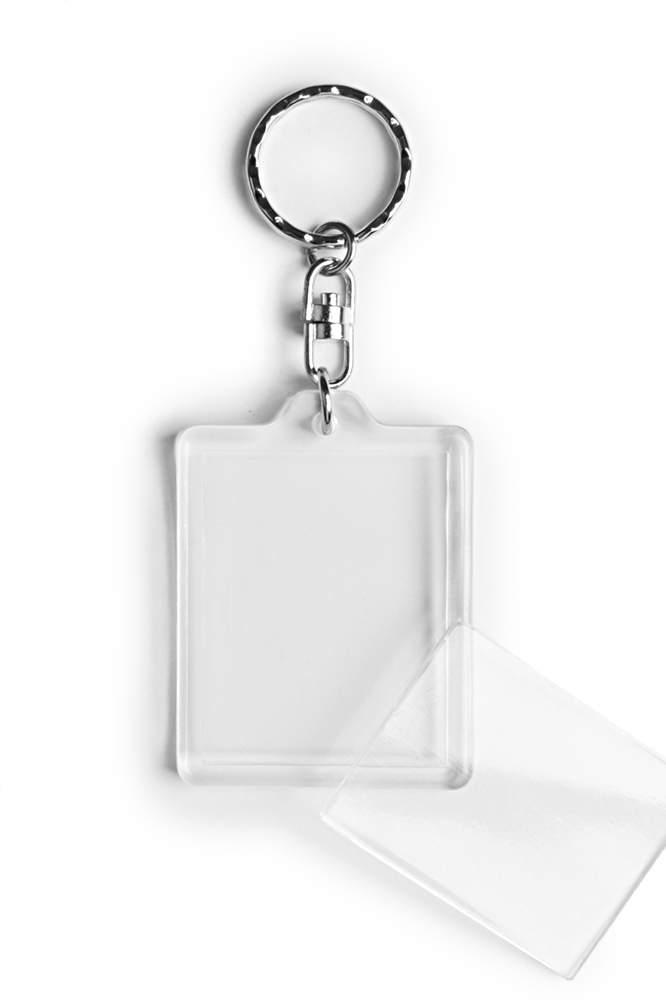 02. Breloc acrylic (45x35) - cu inel rotativ