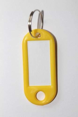 28. Breloc cu etichetă - galben