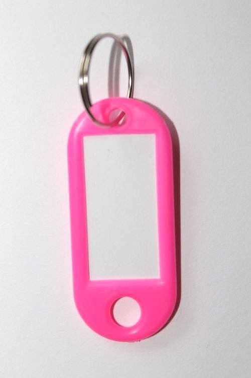 26. Breloc cu etichetă - roz