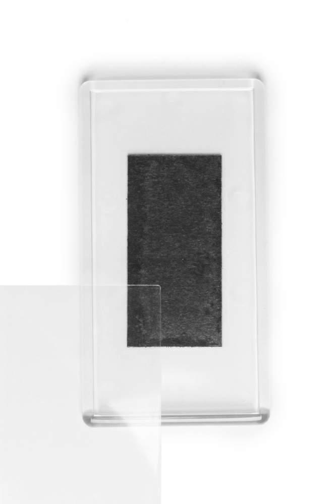 14. Magnet de frigider acrilic transparent - (5,8 x 10,8 cm)