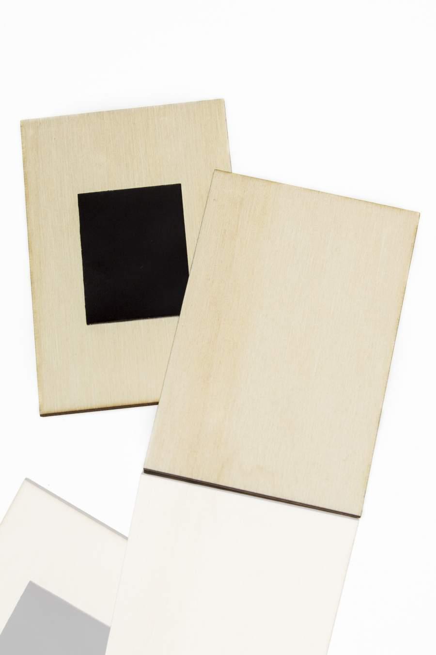 102. Placă din lemn pentru magnet frigider, felie dreptunghiulară 90x60mm
