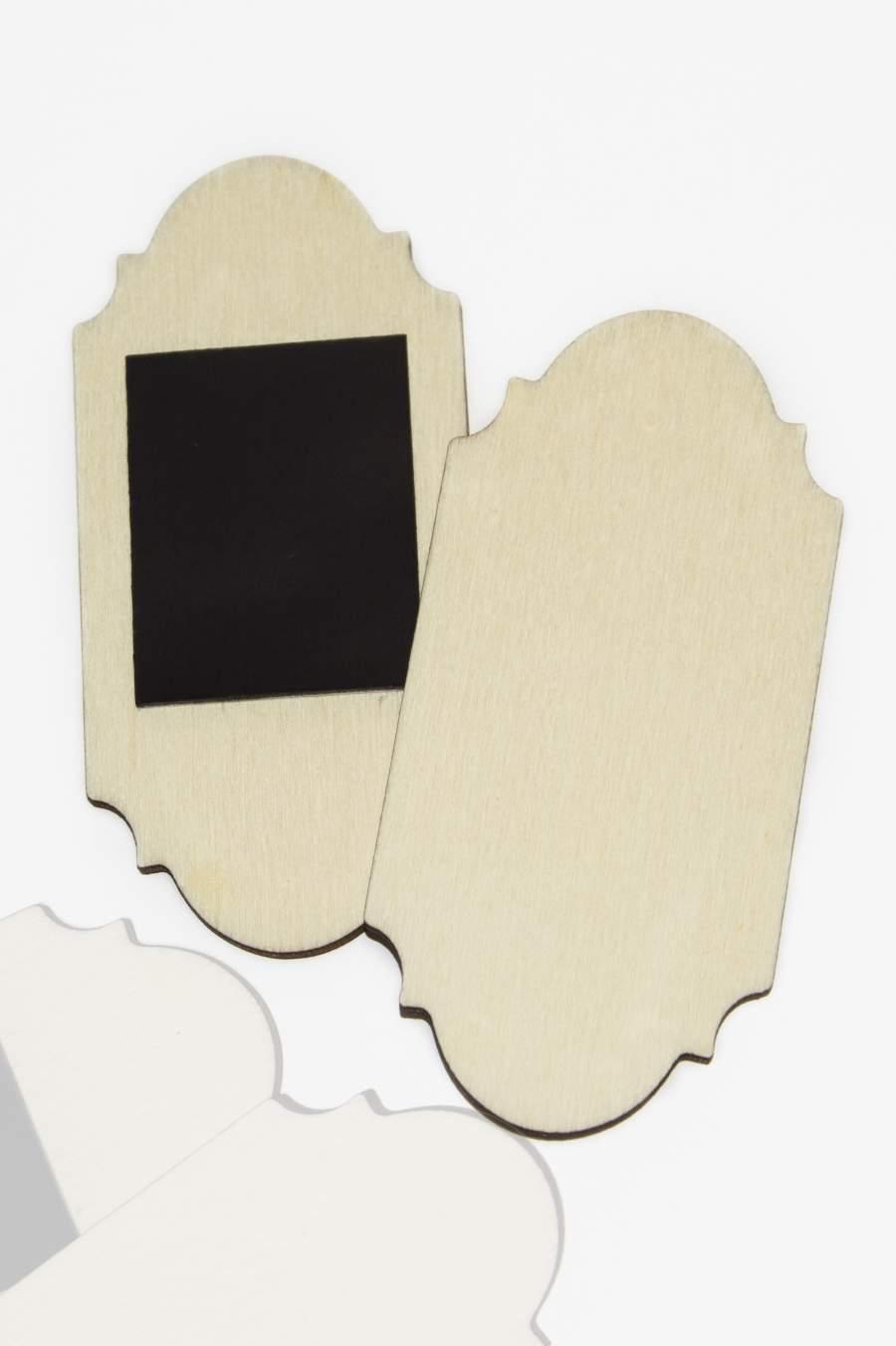107. Placă din lemn pentru magnet frigider 90x42mm