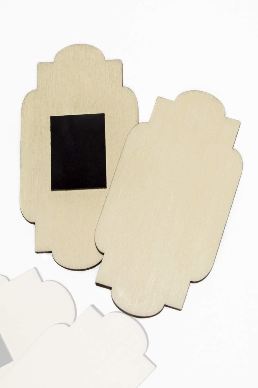 108. Placă din lemn pentru magnet frigider 90x46mm