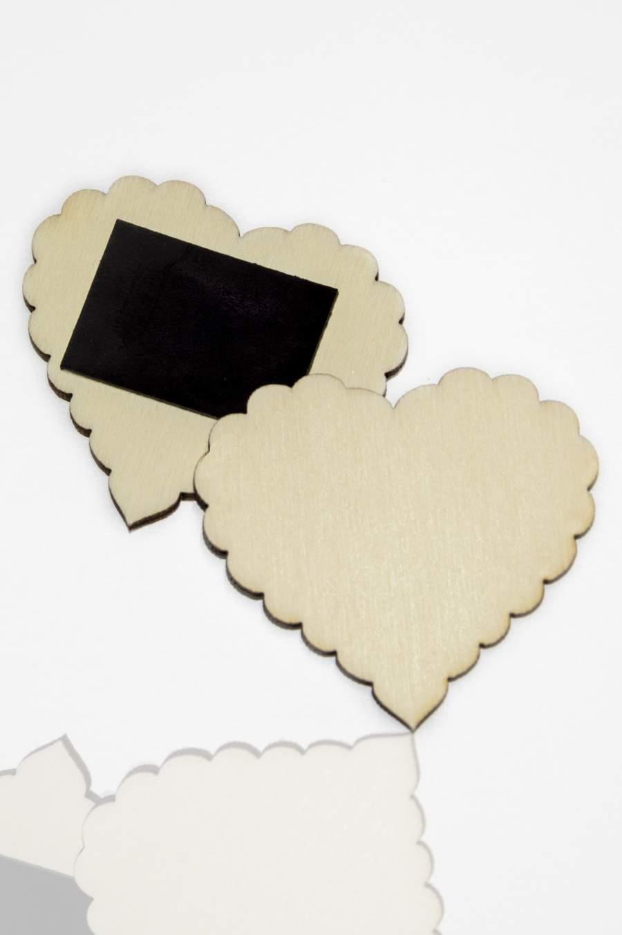 110. Placă din lemn pentru magnet frigider 50x45mm