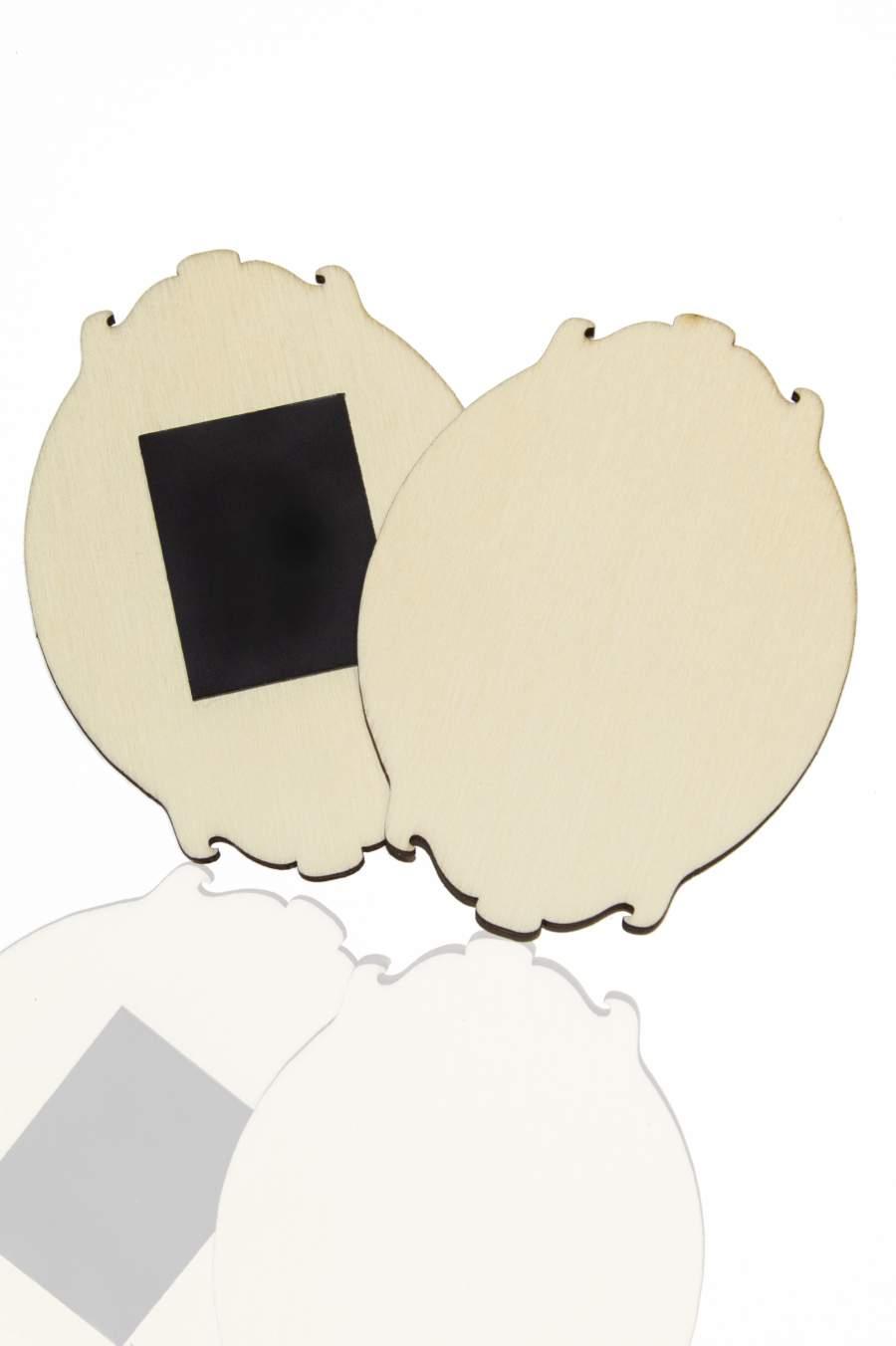 115. Placă din lemn pentru magnet frigider 90x65mm