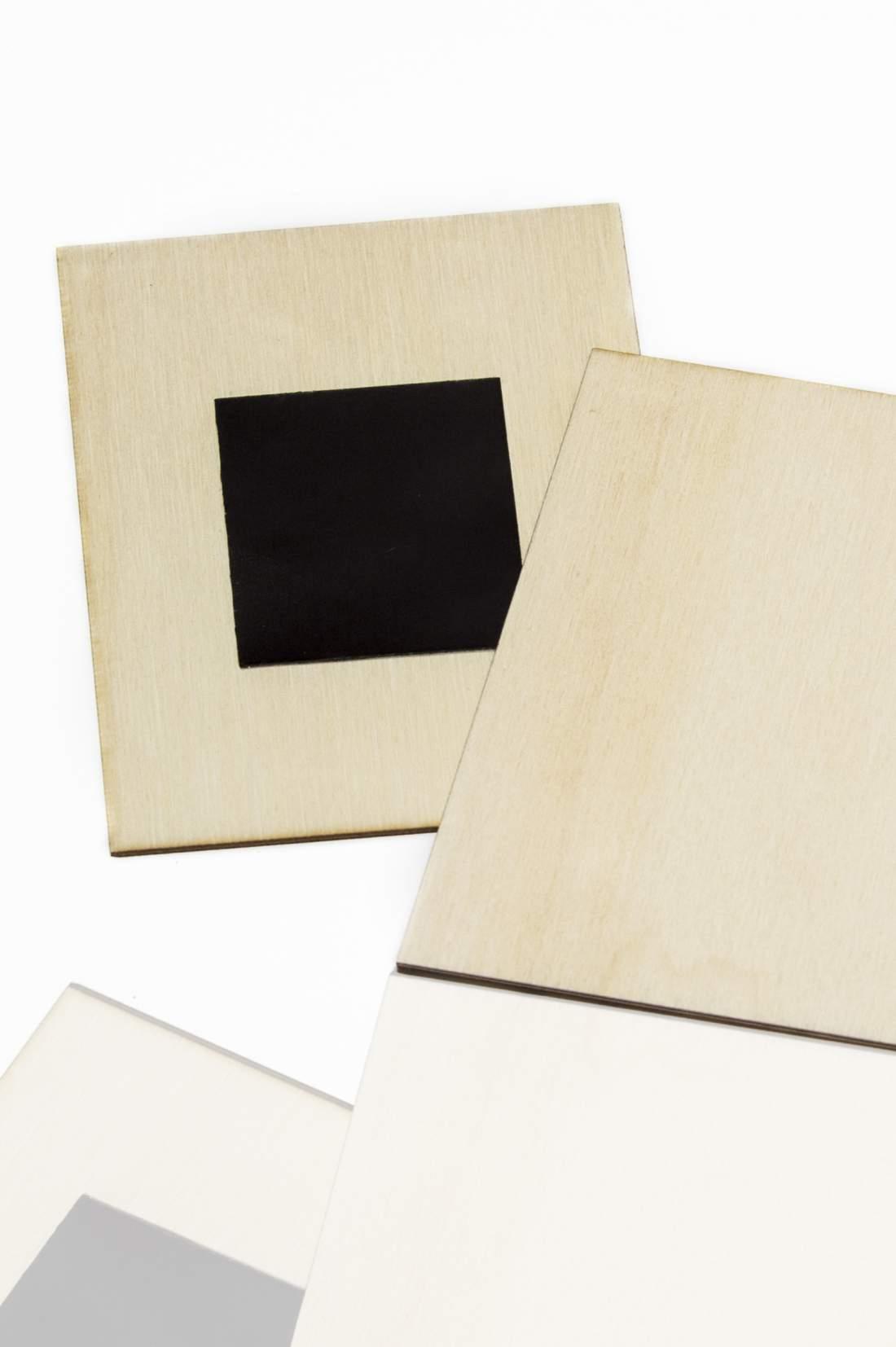 102.2 Placă din lemn pentru magnet frigider, felie dreptunghiulară 57x57mm
